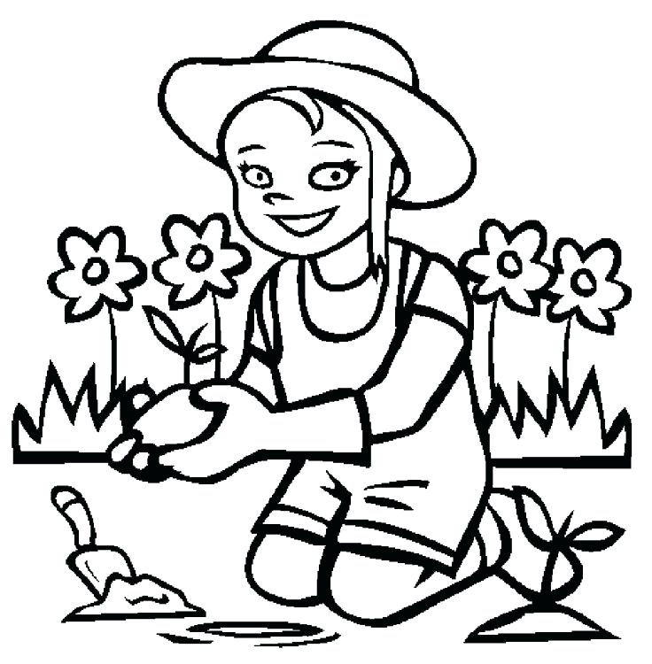 736x750 Garden Coloring Pages Daisy Flower Garden Coloring Page Download