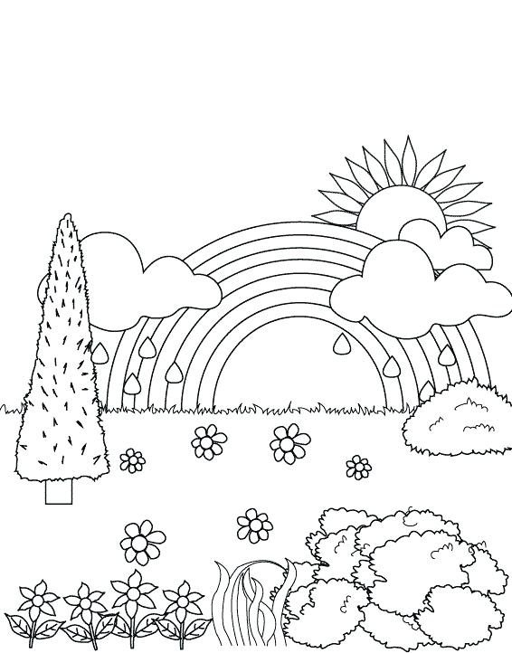 566x722 Garden Coloring Pages For Toddlers Amusing Draw Kids Printable