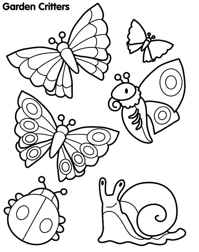 643x815 Simple Coloring Pages For Kids Garden Critter Coloring Page