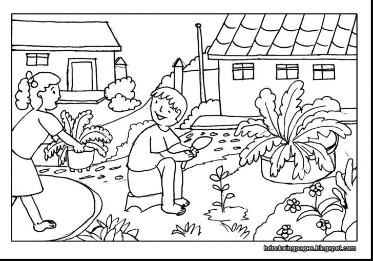 728x509 Sunflower Garden Coloring Page Pages Thanksgiving Dinner Adults