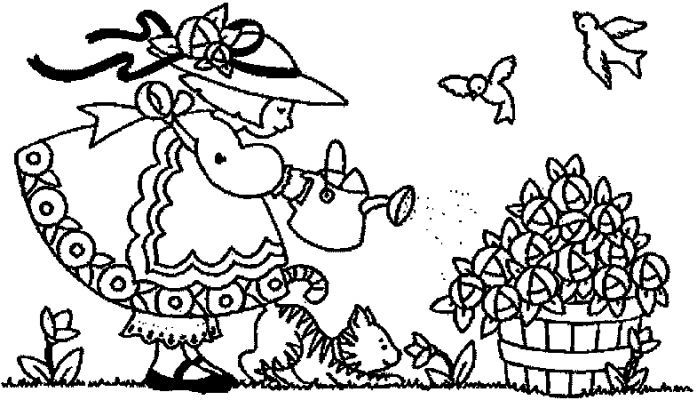 697x400 Transmissionpress Lovely Garden Kids Coloring Pages