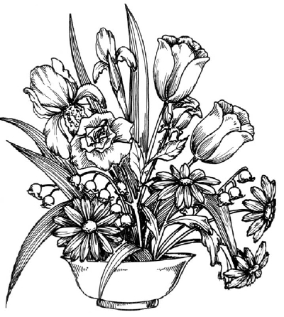 400x446 How To Draw A Flower Arrangement Howstuffworks