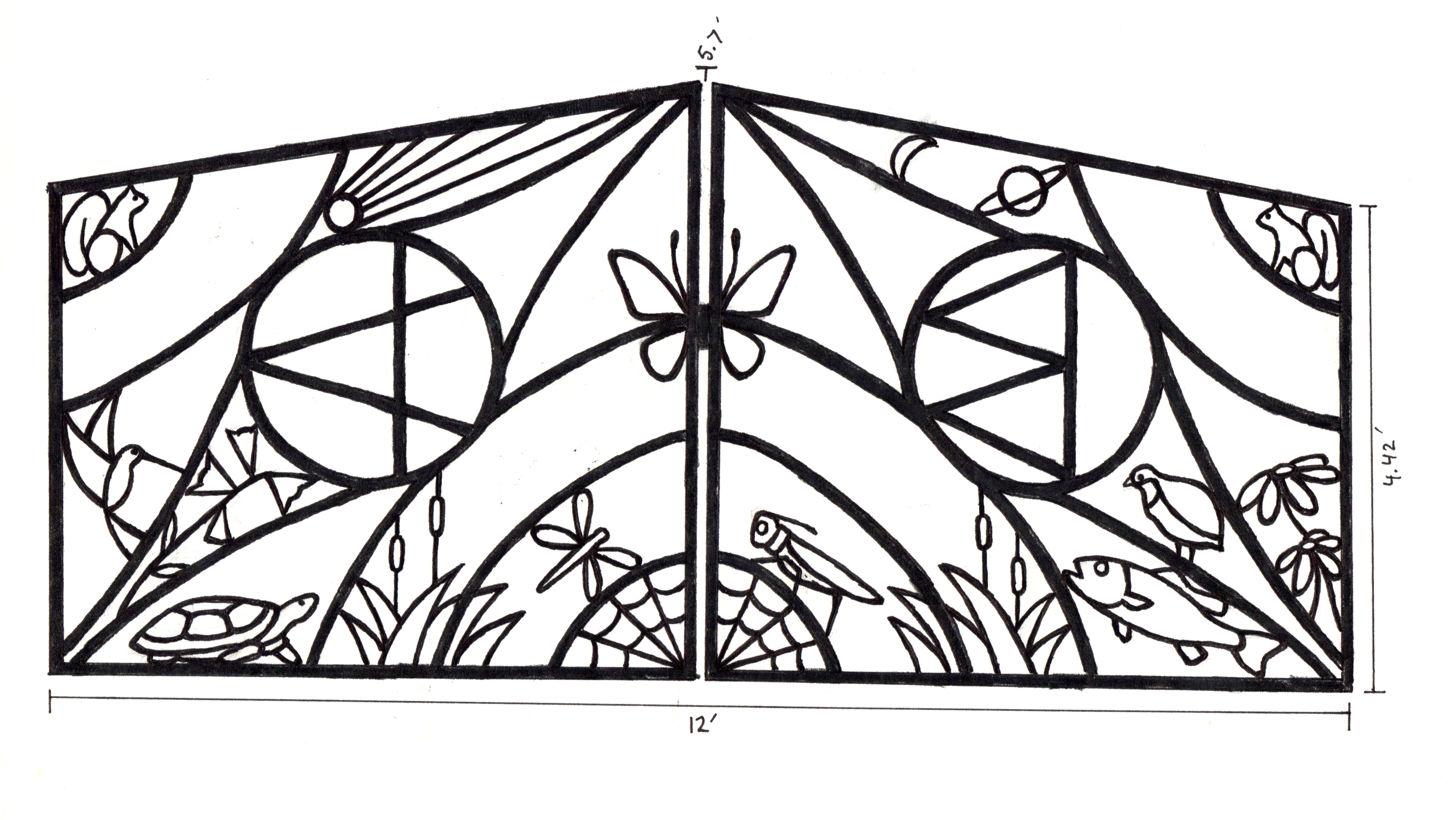 Garden Gate Drawing