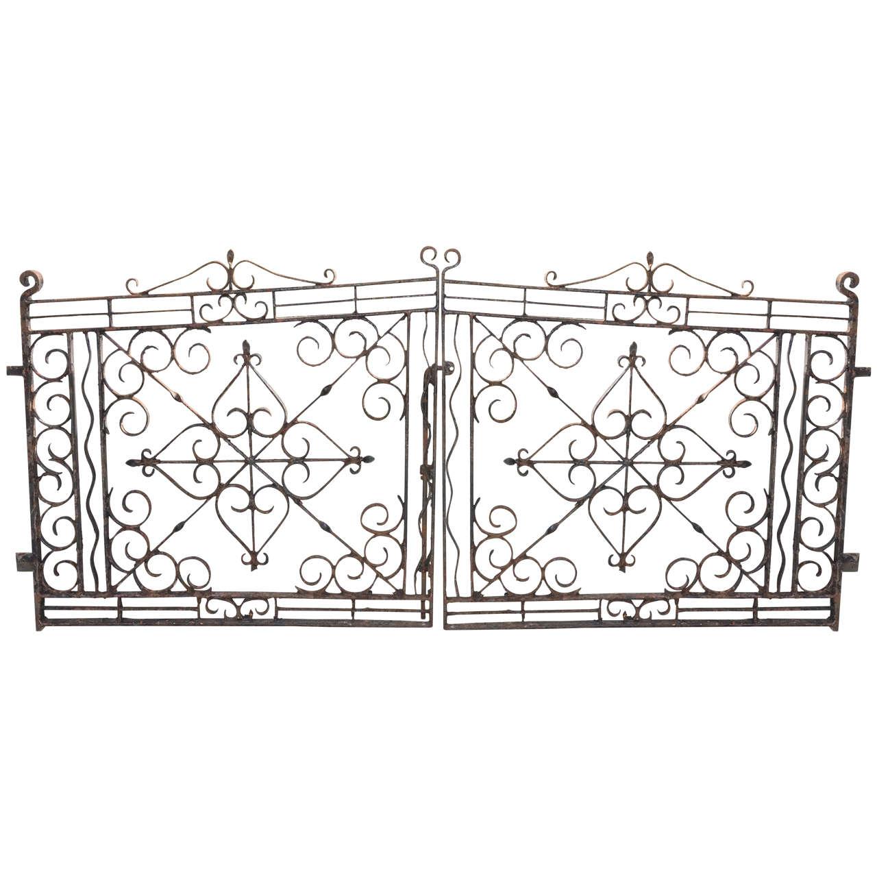 1280x1280 Pair Of English 19th Century Wrought Iron Gates Wrought Iron