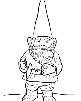 343x425 Gnome Coloring Pages Garden Gnome Coloring Page Free Printable