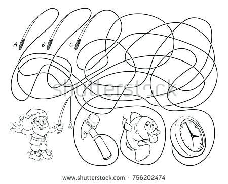 garden gnome coloring pages - garden gnome drawing at free for