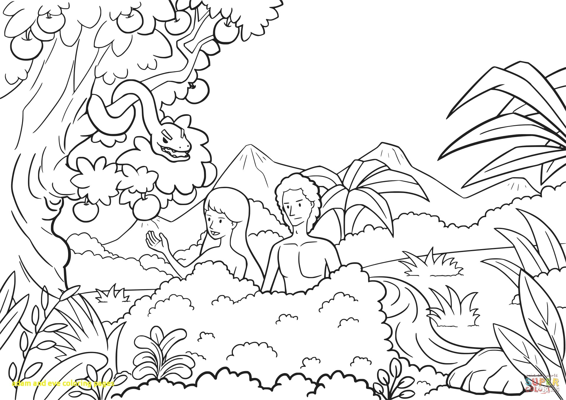 Garden of eden drawing at free for for Garden of eden coloring page