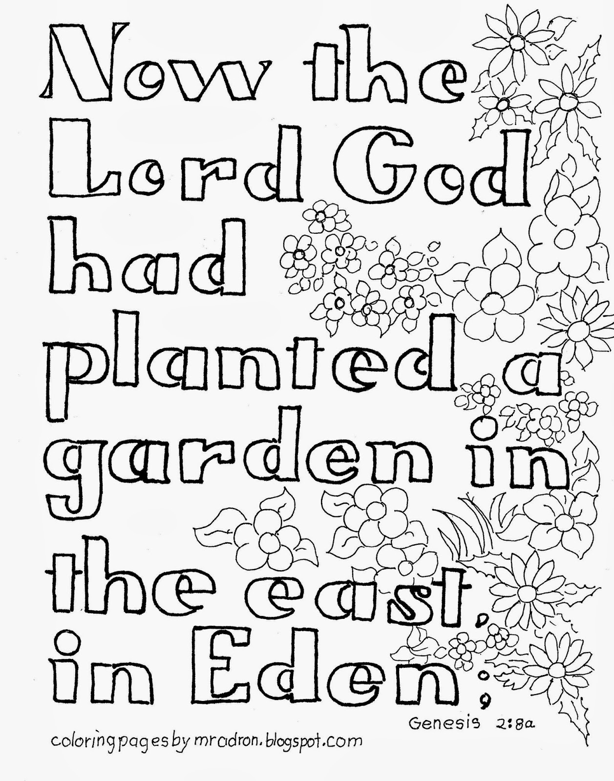 1257x1600 Coloring Pages For Kids By Mr. Adron Garden Of Eden Bible Verse