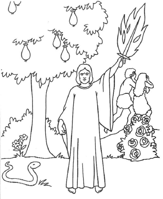 663x809 Expelled From The Garden Of Eden Bible Story Crafts And Coloring
