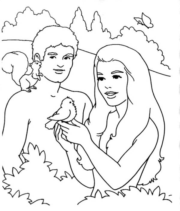 600x701 Garden Of Eden Is Trees The Coloring Page
