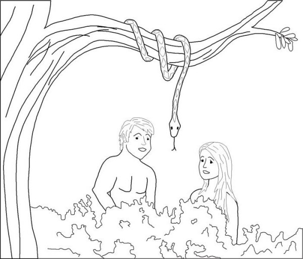 600x513 Garden Of God Is The Garden Of Eden Coloring Page