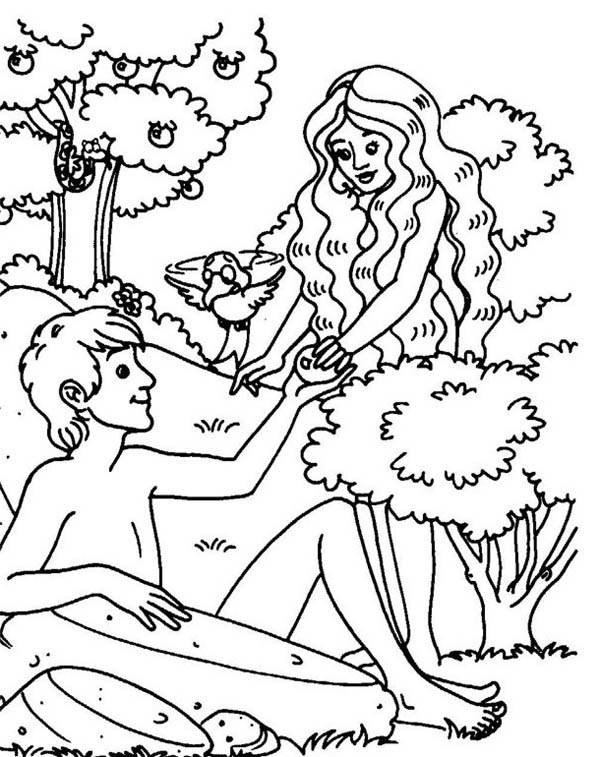 600x757 Original Sin Of Mankind In Garden Of Eden Coloring Page