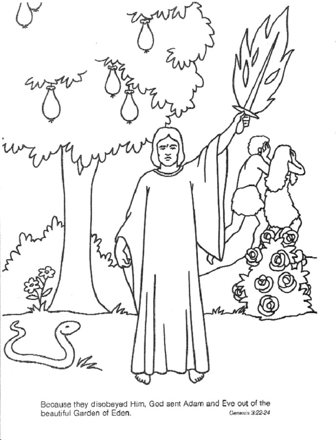 688x901 Powerful Garden Of Eden Coloring Page Pages 453544