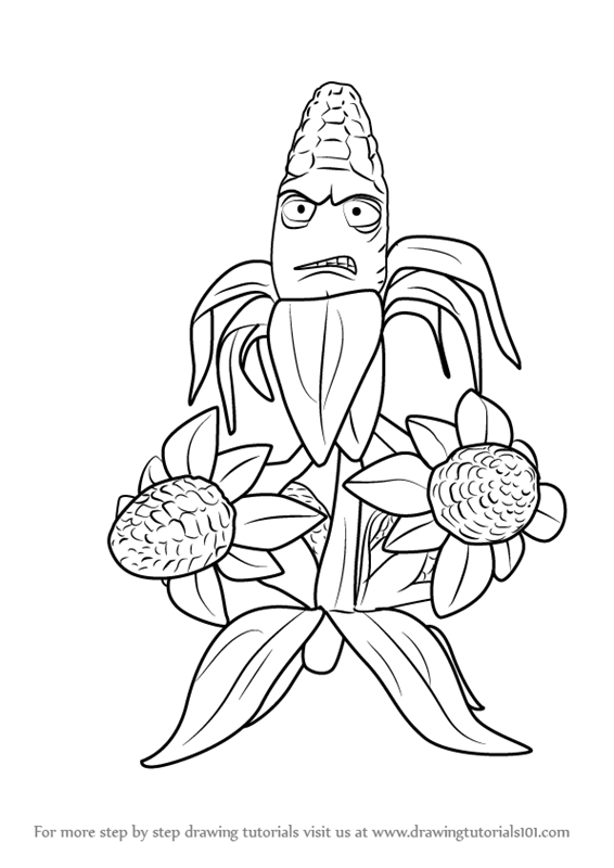566x800 Learn How To Draw Kernel Corn From Plants Vs. Zombies