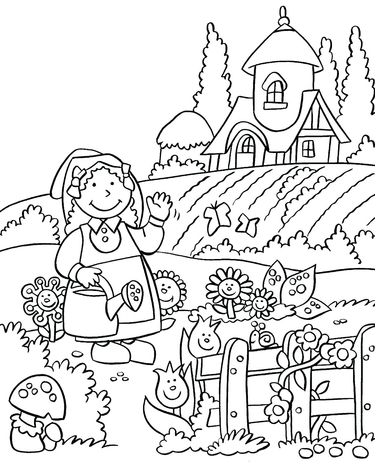 1299x1600 Coloring Garden Flowers Coloring Pages Story Flower Printable