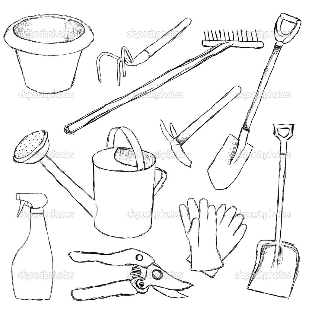 268x268 Garden Hoe Coloring Page Kids Drawing And Pages 1024x1024 Tool Belt Click On The Image For Additional Details