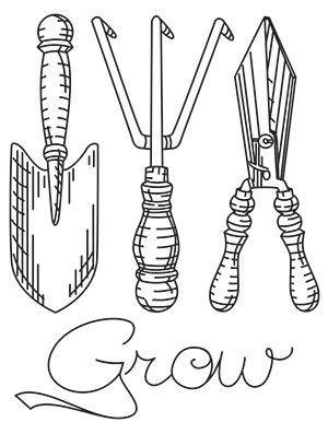 300x397 Garden Tools Urban Threads Unique And Awesome Embroidery