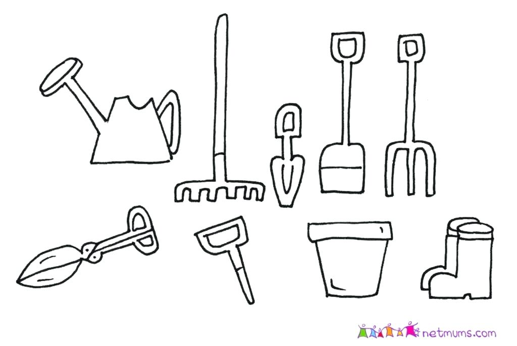 1024x685 Drawing Of Garden Tools Garden Tools With Pictures Garden Design