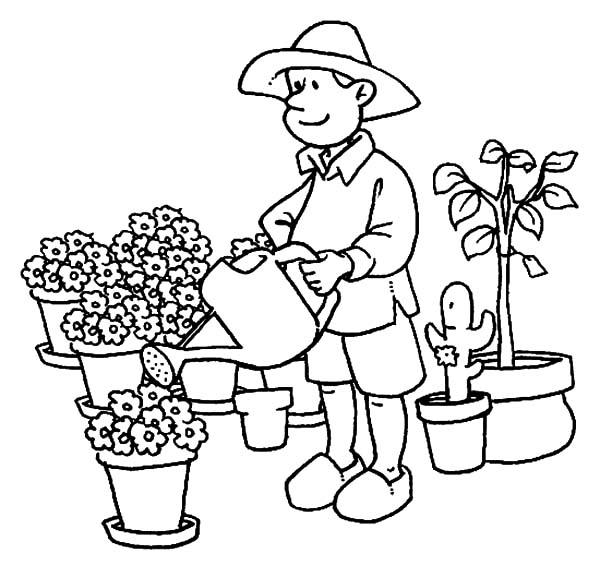 The Best Free Gardener Drawing Images Download From 74 Free