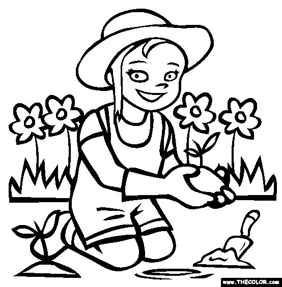 Gardening Drawing At GetDrawings
