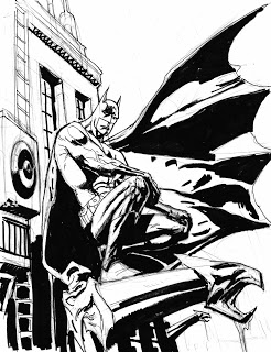 246x320 Kevin Nowlan Batman Gargoyle Drawing