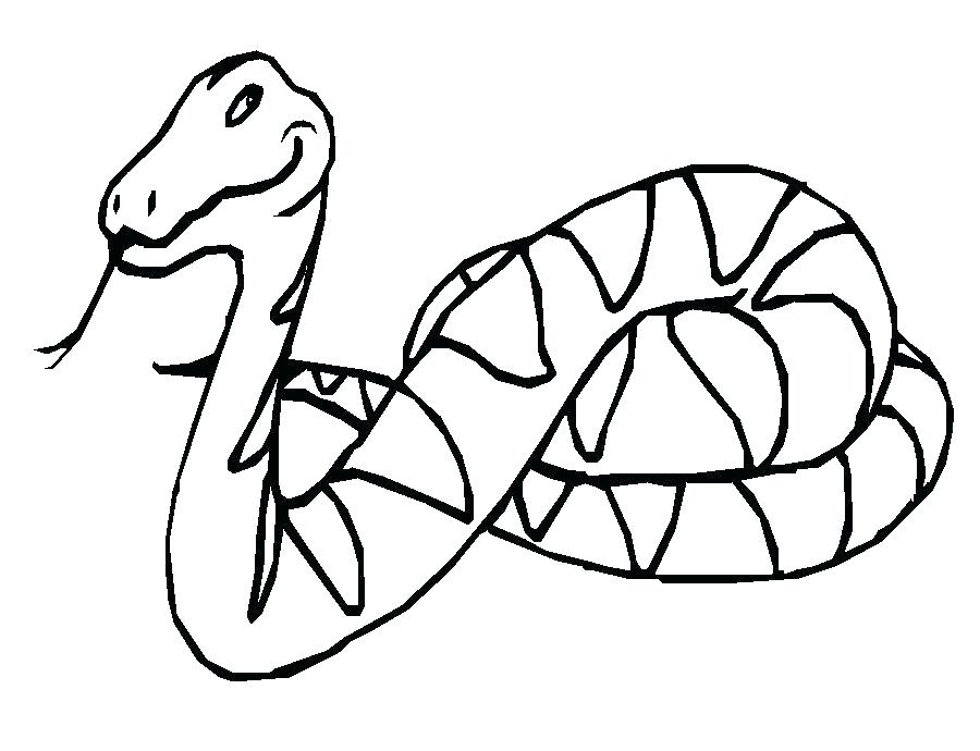 900x690 Coloring Page Snake Cobra Snake Clouded Snake Coloring Page