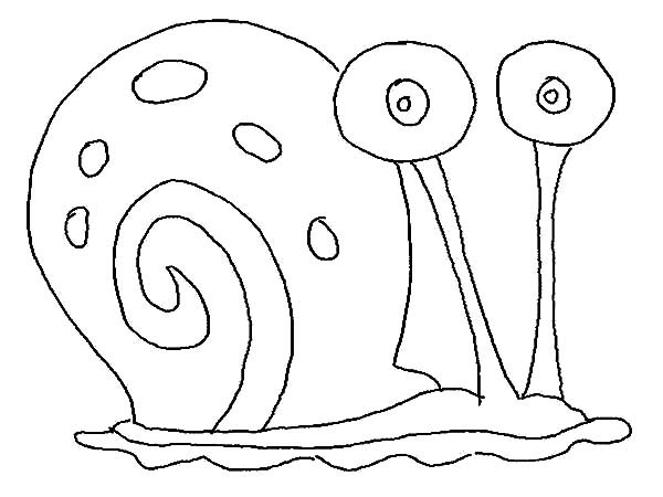 600x450 Gary The Snail Coloring Pages Coloring Page For Kids