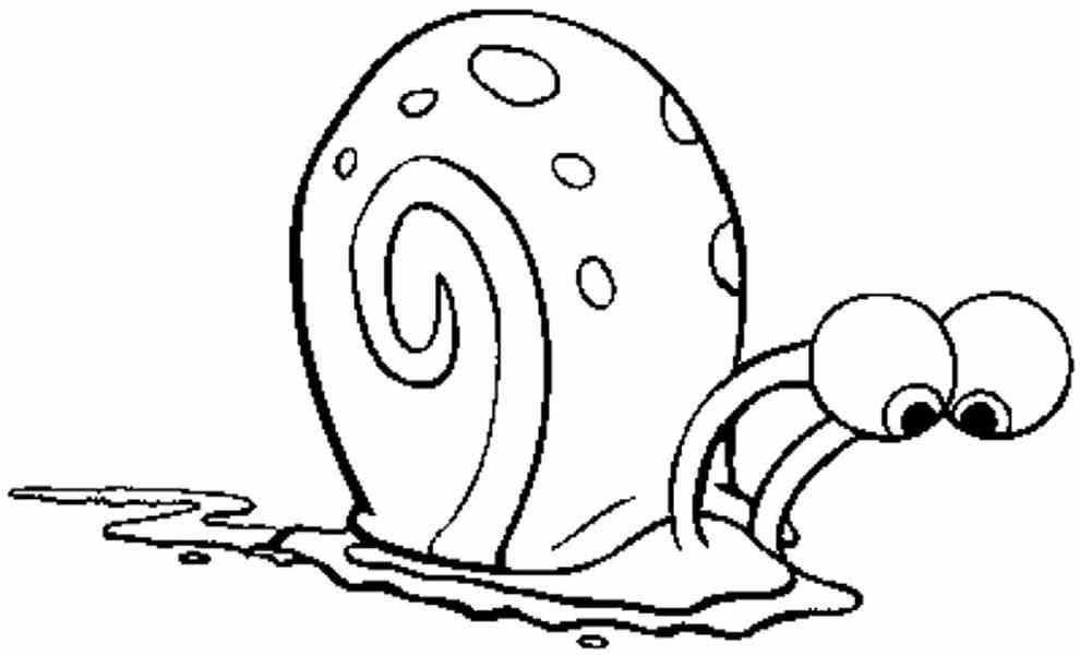 990x600 Cute Snail Color Page