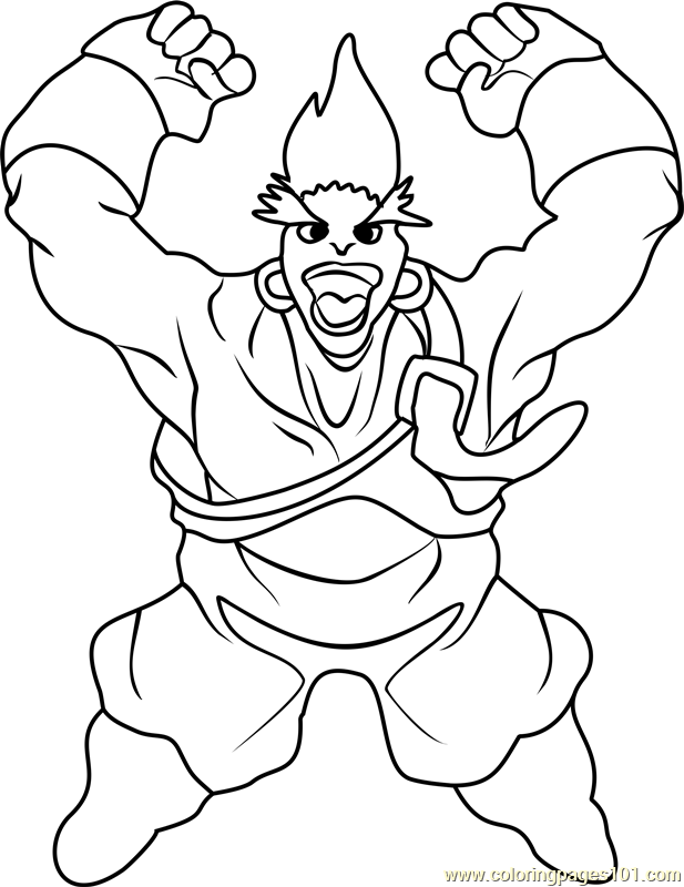 617x800 Gary Beyblade Coloring Page