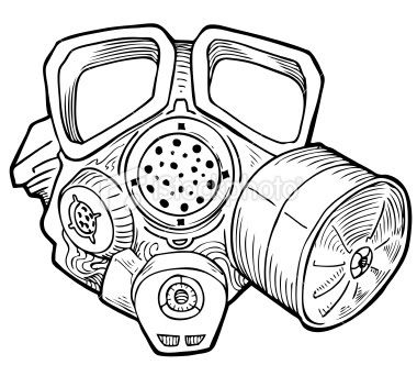 380x342 42 Best Cool Gas Mask Tattoo Stencils Images On Gas