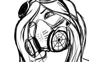 300x210 Graffiti Characters Gas Mask Drawings Drawing A Gas Mask Character