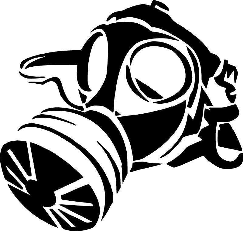 800x762 Gas Mask Die Cut Vinyl Sticker Decal Sticky Addiction