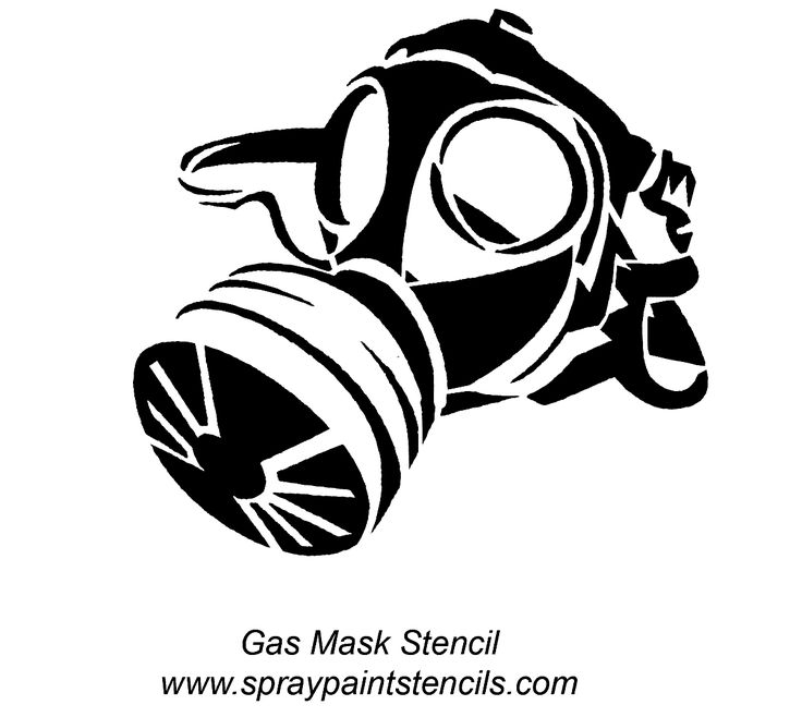 Gas Mask Skull Drawing