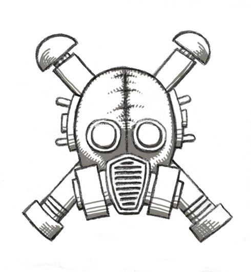 490x532 Gasmask Skull And Crossbones 2 By Rustyoldtown