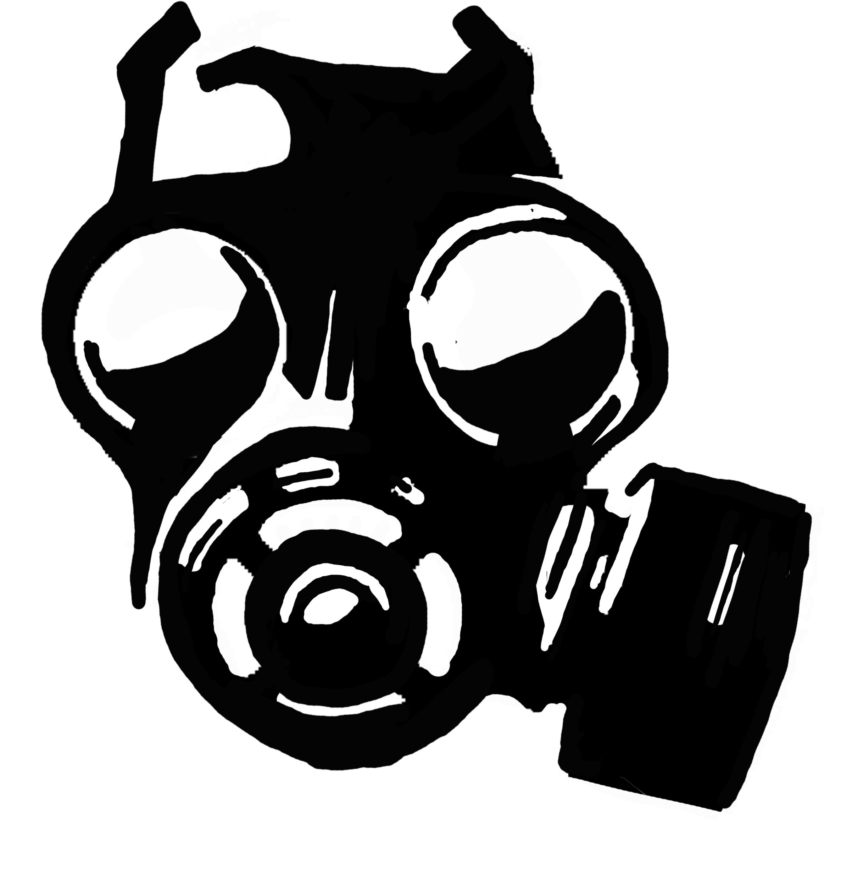 2744x2778 Graffiti Skull Gas Mask Outline