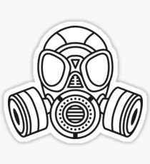 210x230 Mask Gas Skull Stickers Redbubble