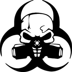 299x300 Biohazard Skull With Gas Mask Vinyl Decal Sticker Ebay