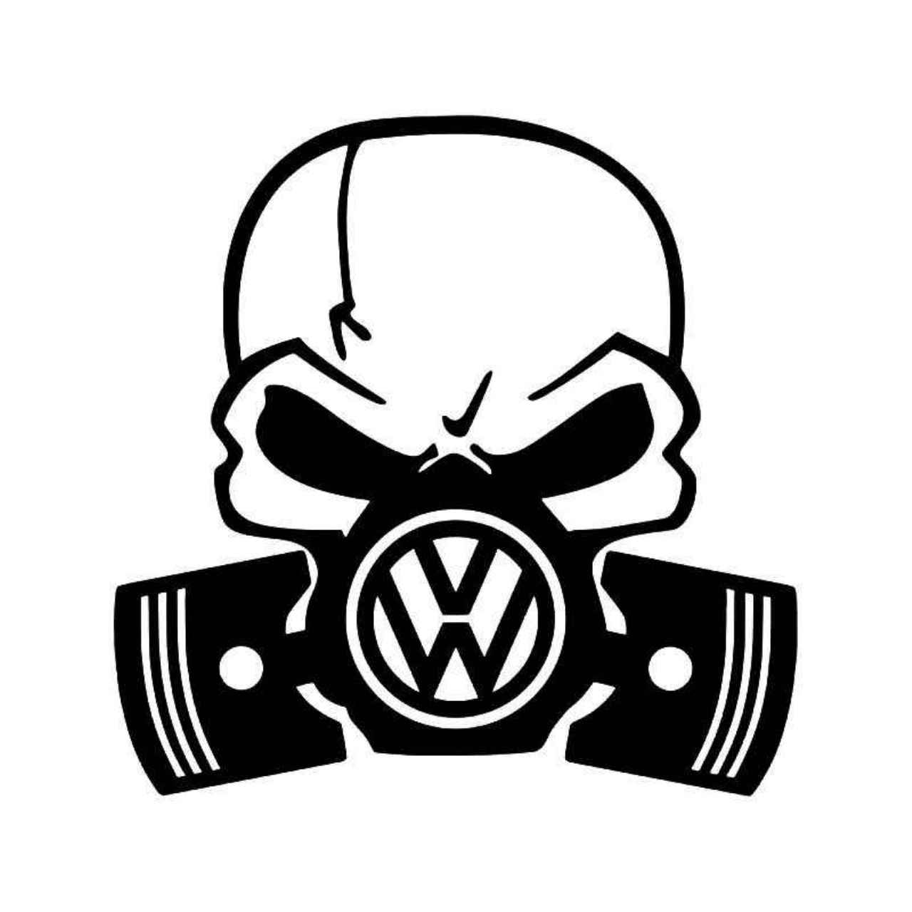 1280x1280 Vw Skull Piston Gas Mask Vinyl Decal Sticker Masking
