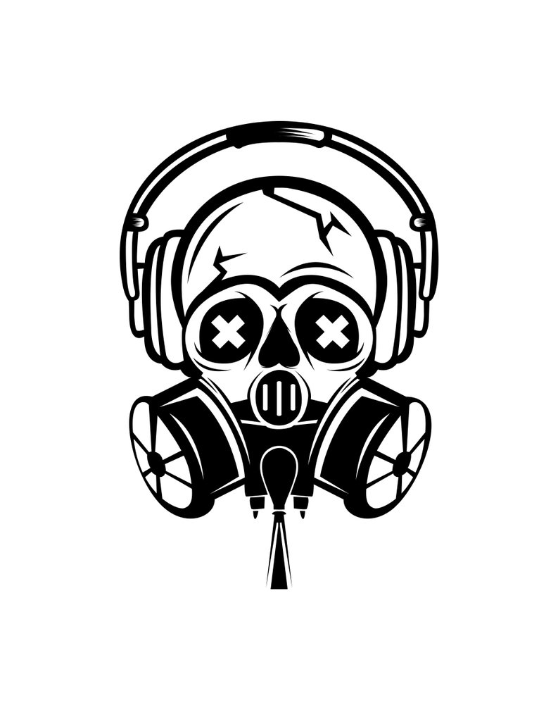 Drawing Art Gas Mask