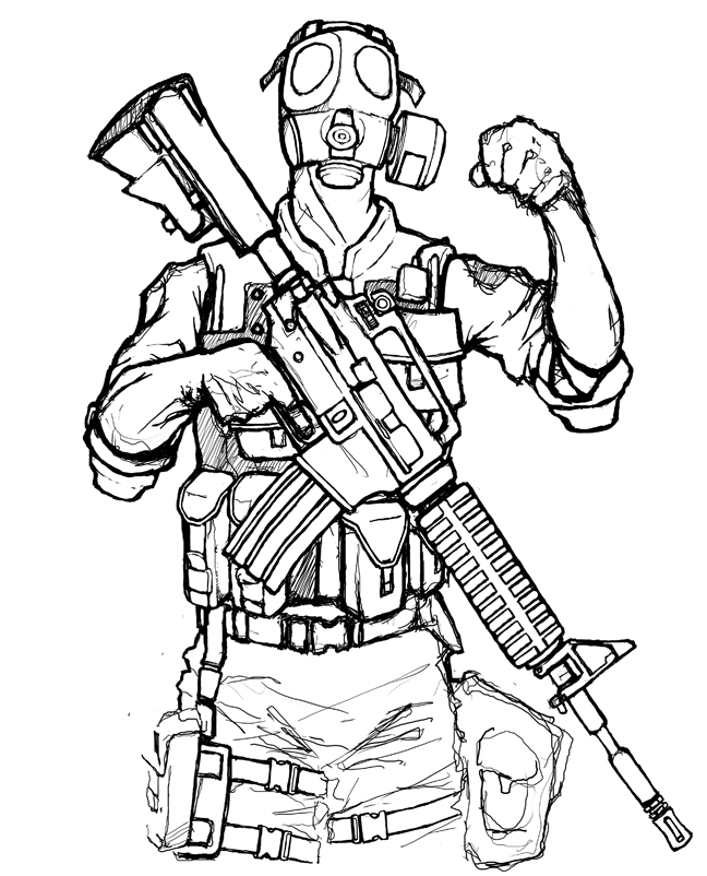 Gas Mask Soldier Drawing at GetDrawings.com | Free for personal use ...