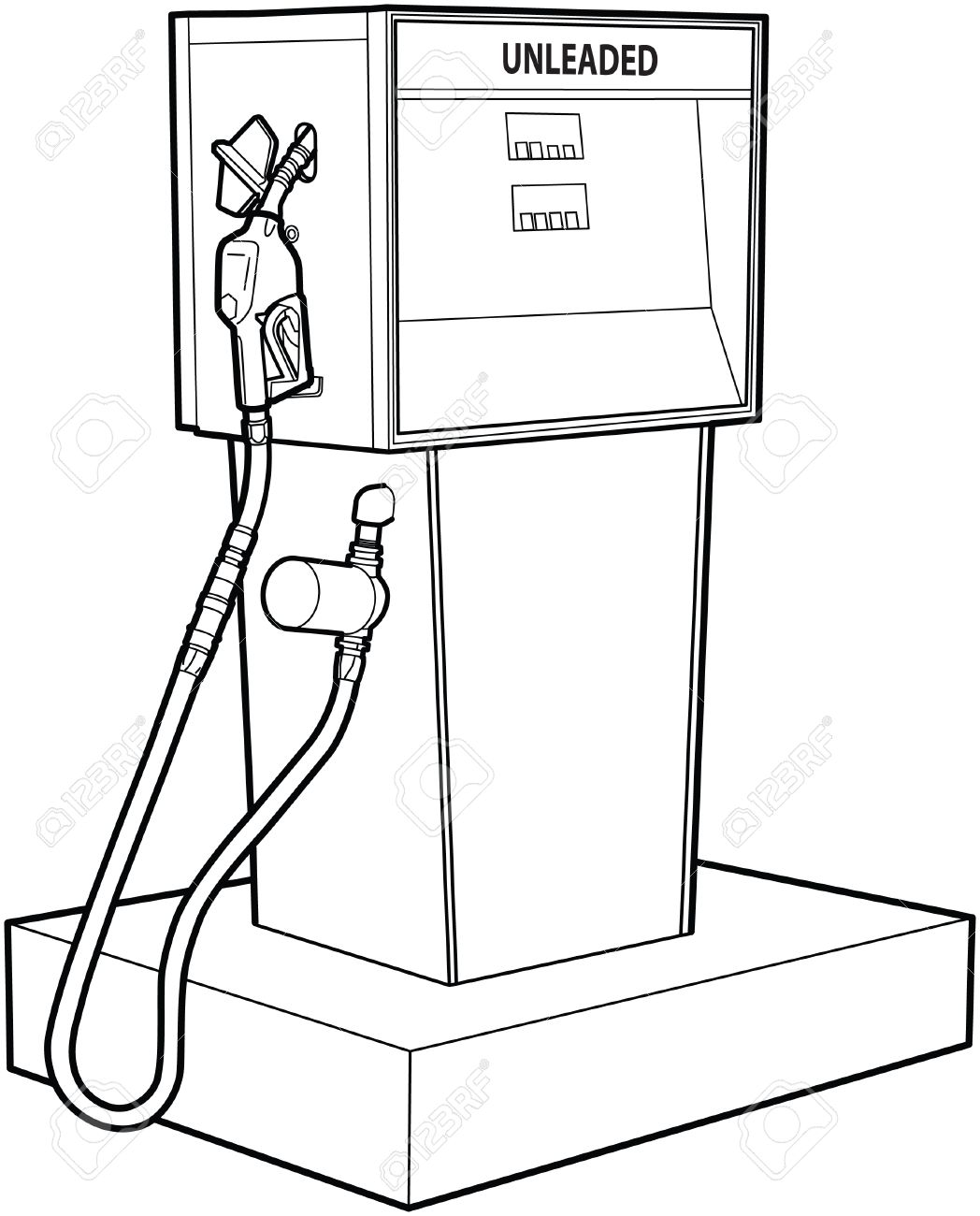 1048x1300 Gas Or Petrol Pump Royalty Free Cliparts, Vectors, And Stock