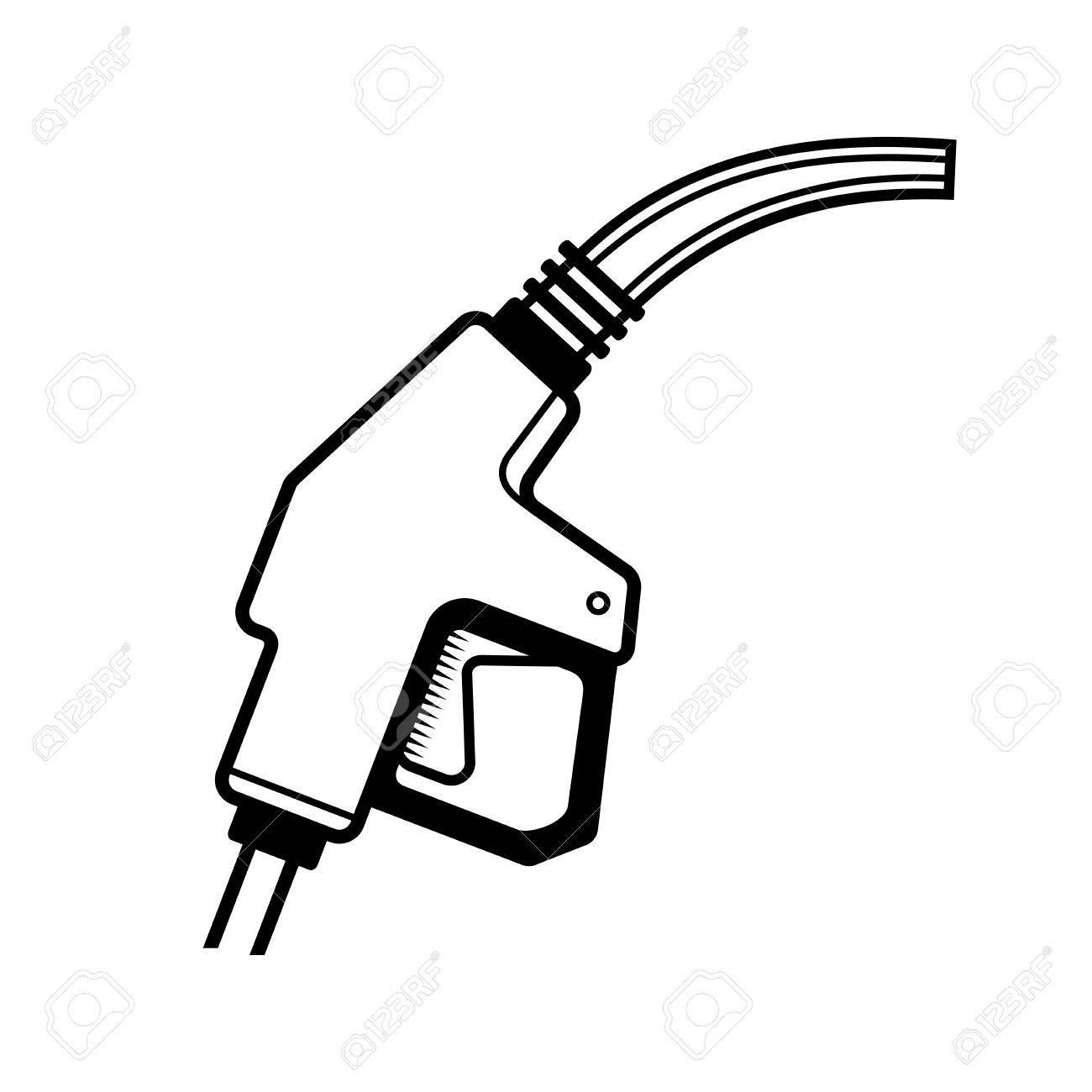 1300x1300 Gas Station Gun Icon On White Background. Vector Illustration