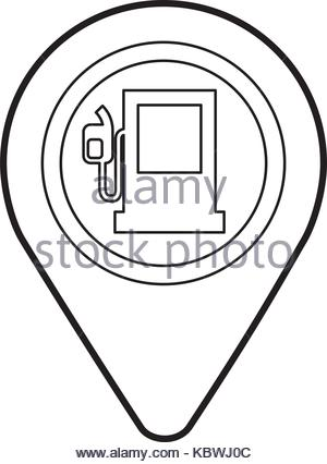 300x426 Map Pointer With Gas Station Symbol Icon Stock Vector Art
