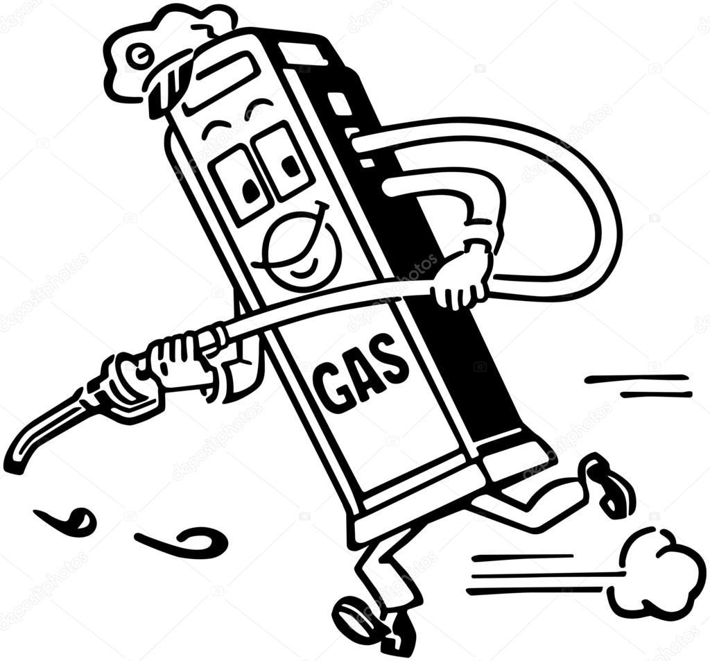 1024x953 Mister Gas Pump Stock Vector Retroclipart