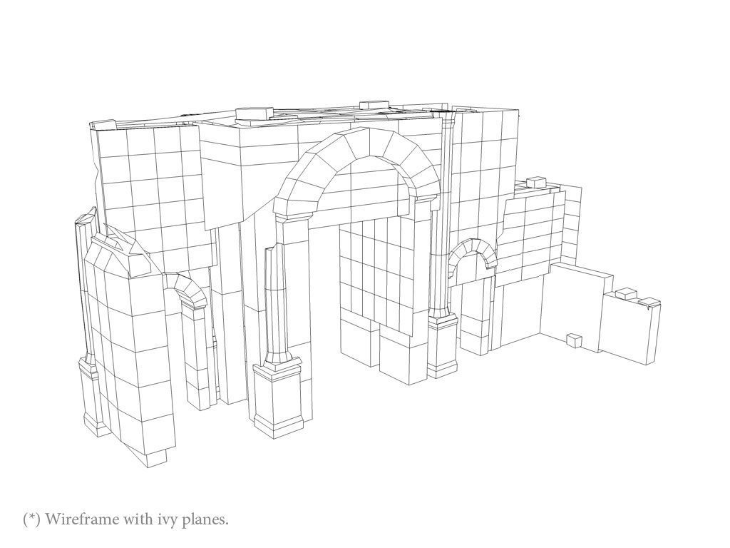 1024x768 3d Model Ancient Jungle Ruins Gate Cgtrader