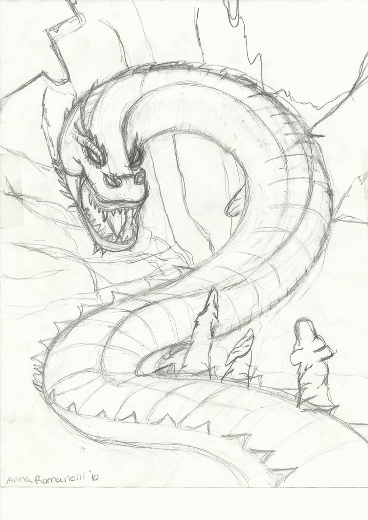 752x1063 Hell Serpent Sketch By 1w1w
