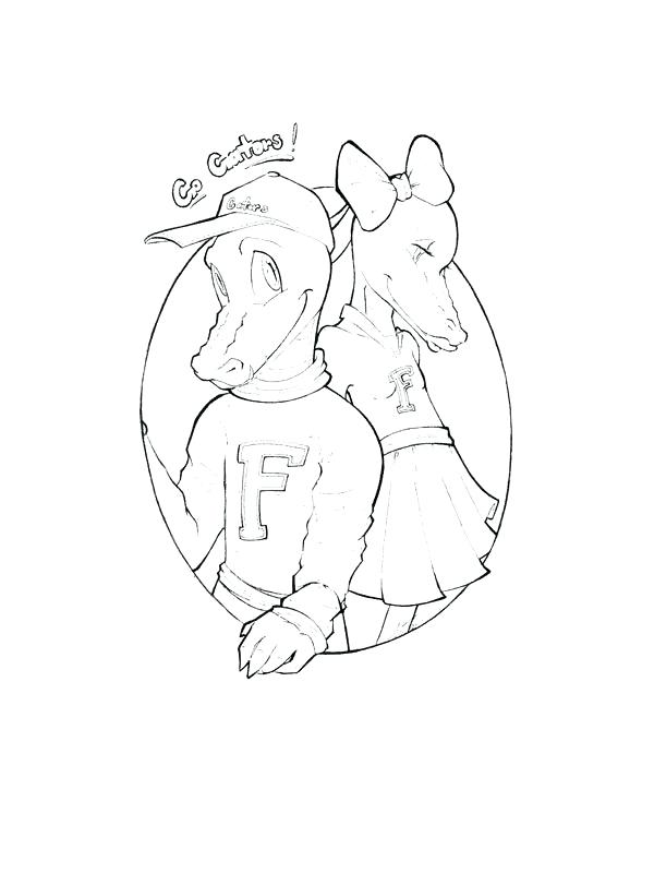 600x800 Florida Gators Coloring Pages Free Gators Coloring Pages Florida