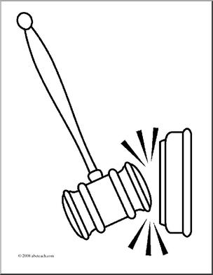 Gavel Drawing at GetDrawings   Free download