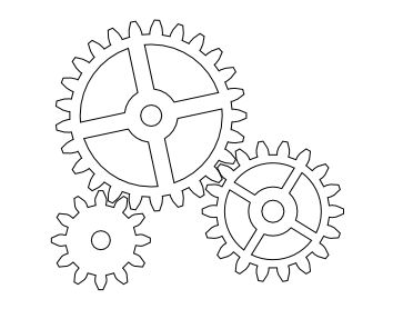 363x296 Gear Coloring Sheets Gear Coloring Pages