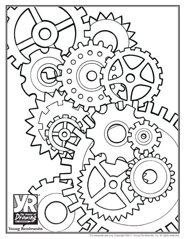 Gears Drawing at GetDrawings | Free download